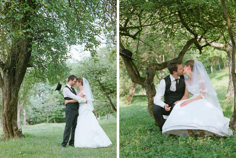 Hochzeit im grünen Garten