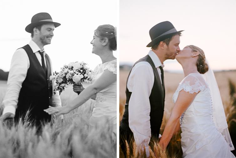 Kornfeld Hochzeitsfoto, Fine Art Hochzeitsfotografie