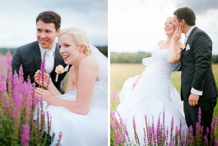Violette Blumenwiese Hochzeit