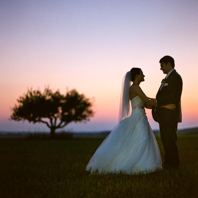 Sonnenuntergang Hochzeitsfoto
