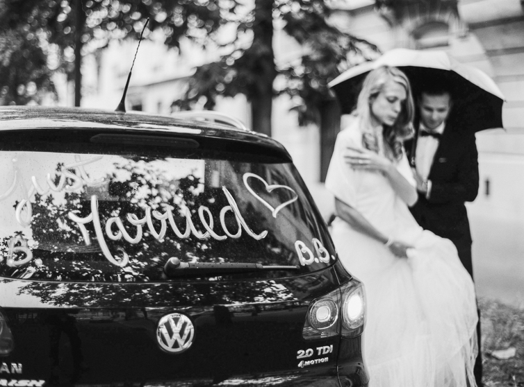 Just Married, Paris, Wedding, Love
