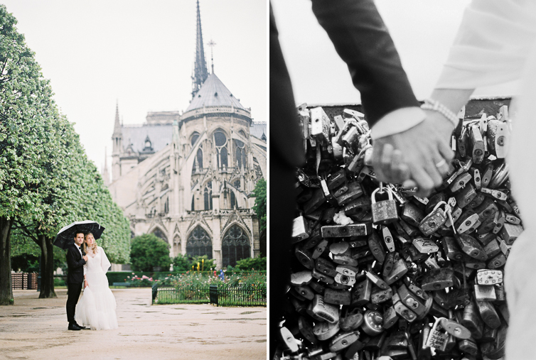notre dame, in love, wedding couple, wedding photo, artistic